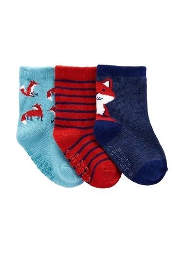 Carters Carter'S 3'Lü Bebek Çorabı 1I985510 Renkli